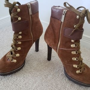 Michael Kors suede and leather boots